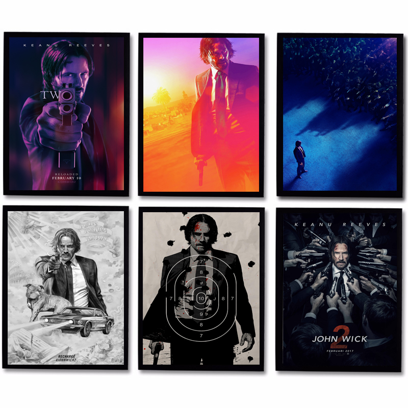 Movie John Wick Comics Wallpaper Minimalist Wall Art Canvas Poster Print Painting Decorative Picture Bedroom Home Decor