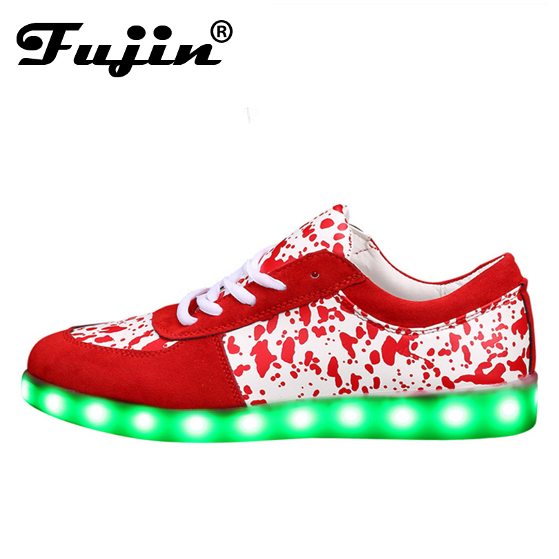 Led shoes for adults casual men unisex casual shoes led luminous shoes men plus size light up lady shoes zapatos mujer vulcanize 8 color led luminous shoes unisex glow shoe men women fashion lover tide leather recharge usb light shoes