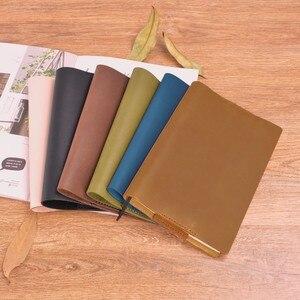 Image 4 - Винтажная Подлинная кожаная записная книжка календарь, чехол А5 А6 размера, защитный чехол для журнала ручной работы, органайзер для набросков из воловьей кожи