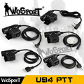 Wosport tactical u94 ptt plug para z-tático bowman elite ii headset militar ptt para motorola kenwood icom midland rádio do telefone