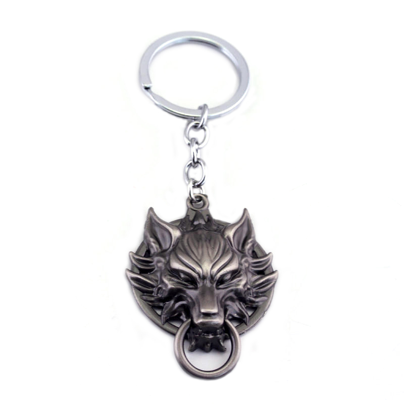 Final Fantasy Wolf Head Keychain Gifts for Men