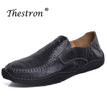 Mens Loafers Leather Black Brown Casual Shoes Male Office Spring Autumn Mans Boat Breathable Without Laces Men Sneakers