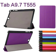 3-Folding Ultra Thin Slim Sleeve Magnetic Folio Stand Leather Case Smart Cover For Samsung Galaxy Tab A 9.7 T550 T551 T555 9.7″