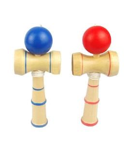 Image 2 - Hohe Qualität Kid Kendama Koordinieren Kugel Japanisches Traditionelles Hölzernes Spiel Geschicklichkeit Pädagogisches Spielzeug