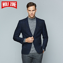 Top Fashion Casual Slim Fit Wool Blazer Brand Clothing Men Overcoat Autumn Mens Jacket Winter Suit Single Button Wedding Dress(China)
