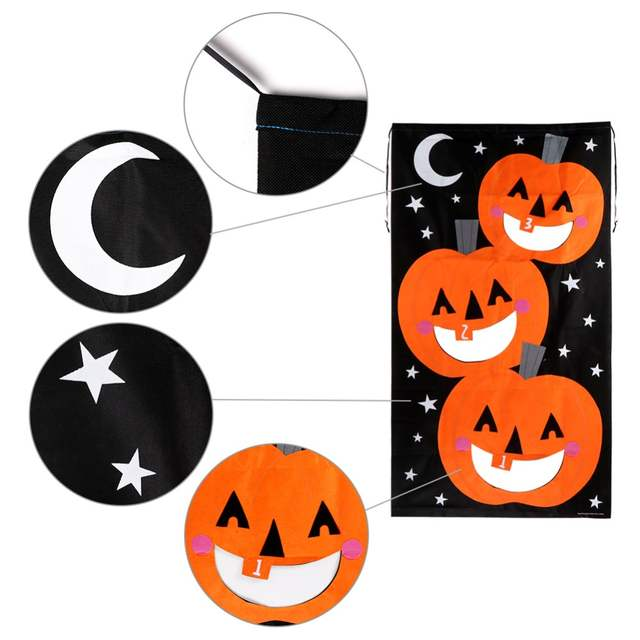 Pleasant Us 10 69 30 Off Ourwarm Halloween Party Hanging Pumpkin Bean Bag Toss Game Gift For Kids Black And Orange Bean Bags For Throwing In Party Diy Onthecornerstone Fun Painted Chair Ideas Images Onthecornerstoneorg