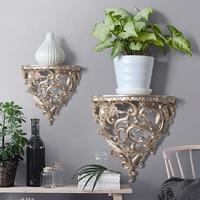 Ancient Home Balcony Villa Garden Accessories Iron Creative Wall Mounting Antique Imitation Wall Decoration Shelf
