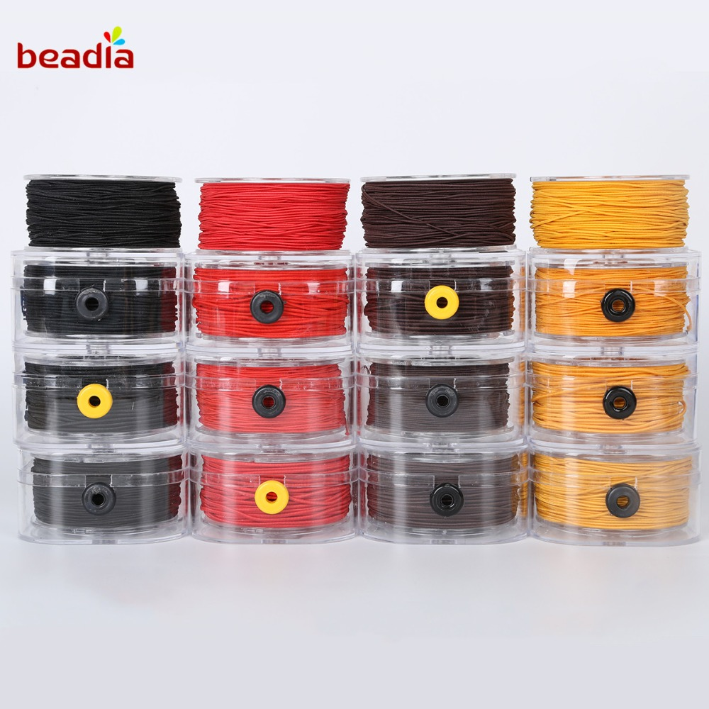1mm 2mm 3mm Solid Rubber Cord Beading Necklace Craft Black White Red Brown