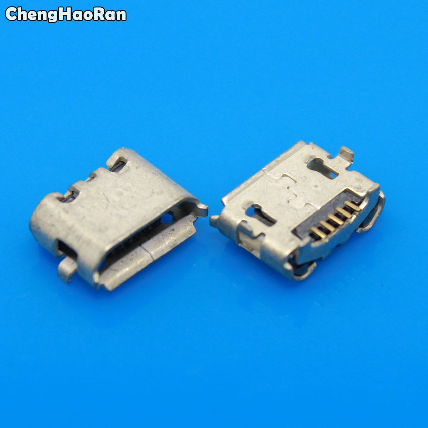 ChengHaoRan 5-100PCS Joystick Power <font><b>Connector</b></font> Micro USB Data Charge Port For <font><b>PS4</b></font> Wireless Controller Charging Socket image