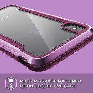 Image 2 - X דוריה הגנה מגן מקרה עבור iPhone XR XS מקס צבאי כיתה זרוק נבדק אלומיניום מקרה עבור iPhone X XS מקס מגן כיסוי