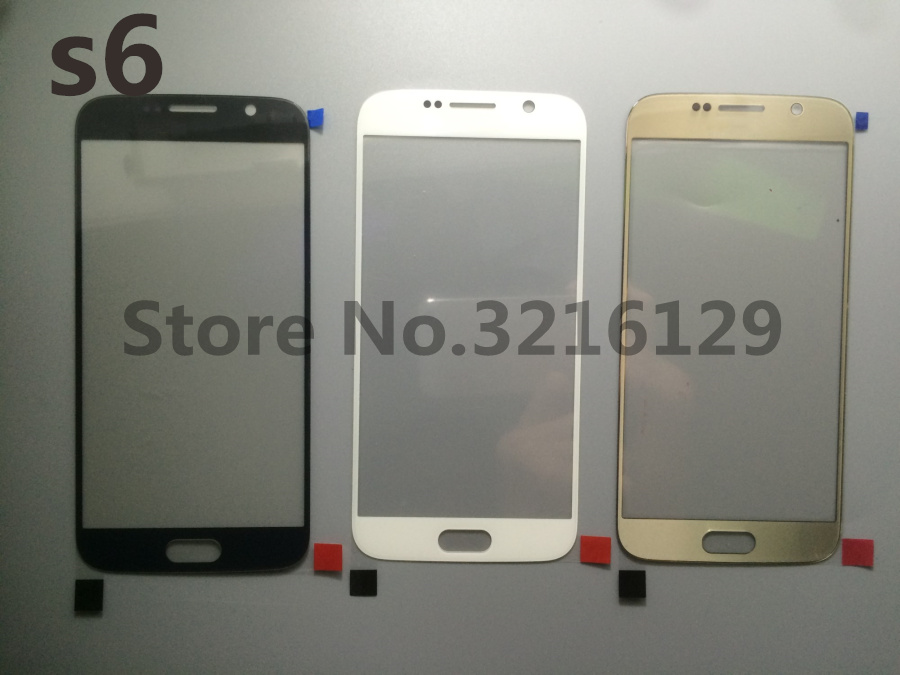50pcs/lot NEW Original High Quality LCD Front Touch Screen <font><b>Glass</b></font> Outer Lens For <font><b>Samsung</b></font> <font><b>Galaxy</b></font> <font><b>s6</b></font> G920 G920F <font><b>Replacement</b></font> image
