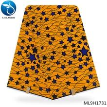 LIULANZHI Yellow african Dutch wax fabric high quality dutch 2019 batik ML9H1728-ML9H1749