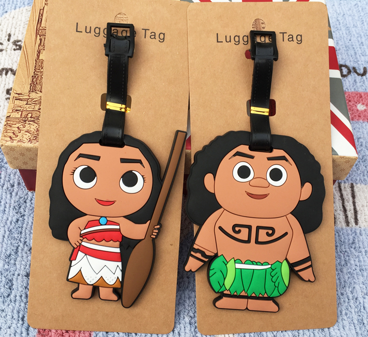 IVYYE Moana Role Anime Travel Accessories Luggage Tag Suitcase ID Address Portable Tags Holder Baggage Labels New