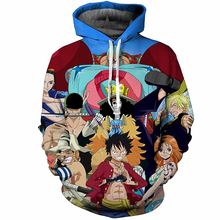 One Piece Luffy Harajuku Print Pullovers Hoodie Large Size 5XL
