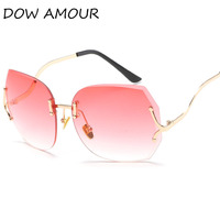 DOW AMOUR Oversized Ladies Big Frame Square Mirror Pink Sunglasses for women  glasses Eyewear Brand Designer lunettes de femme