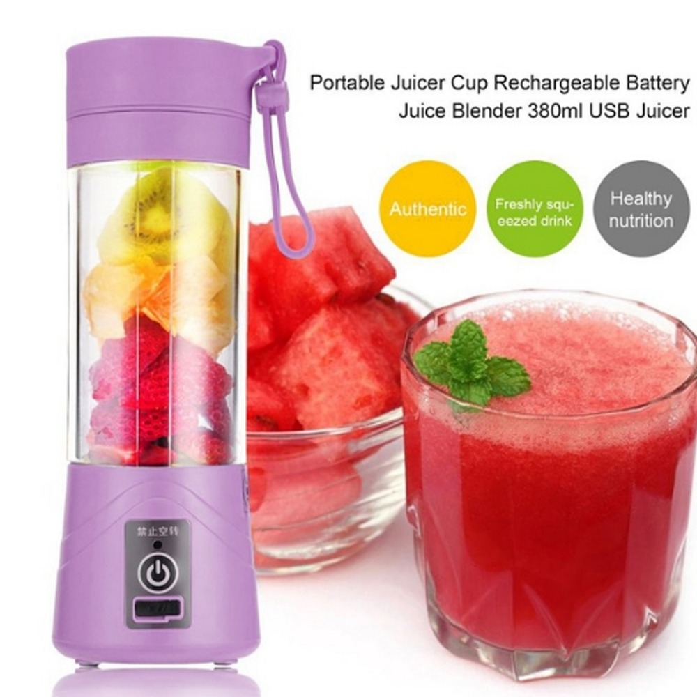 380ml USB Rechargeable Blender Mixer Portable Mini Juicer Juice Machine Smoothie Maker Household Small Juice Extractor New