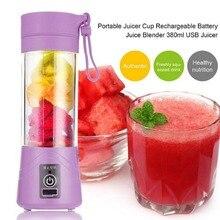 380ml USB Rechargeable Blender Mixer Portable Mini Juicer Juice Machine Smoothie Maker