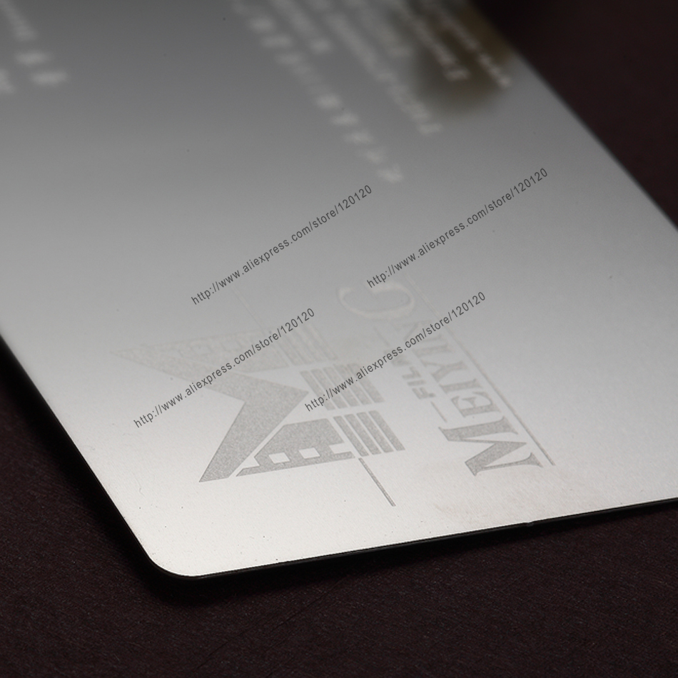 Personalized Quality Stainless Steel Business Metal Card