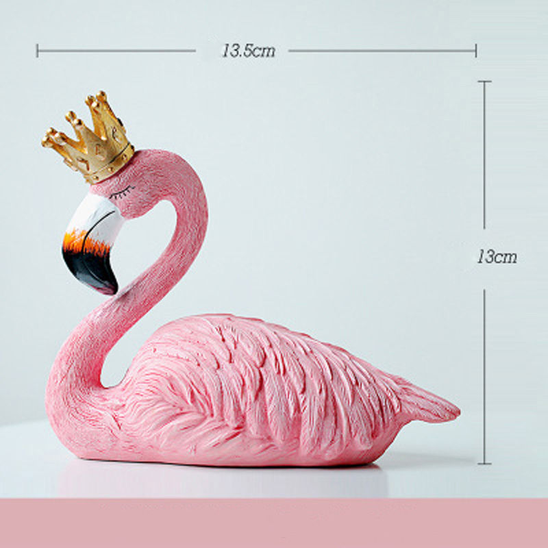 Vacclo 1pc ins Creative House Decoration Flamingo Ornament for The Wedding Gift Birthday Party Weeding Decoration Party Supplies 7