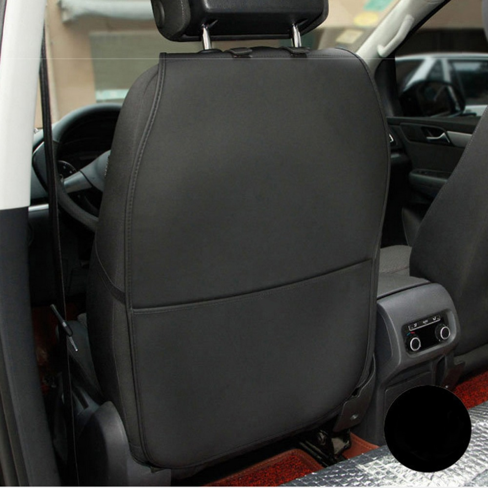 2017 PU leather Protective Anti Kicking Padded child car seat back Scuff dirt protection font b