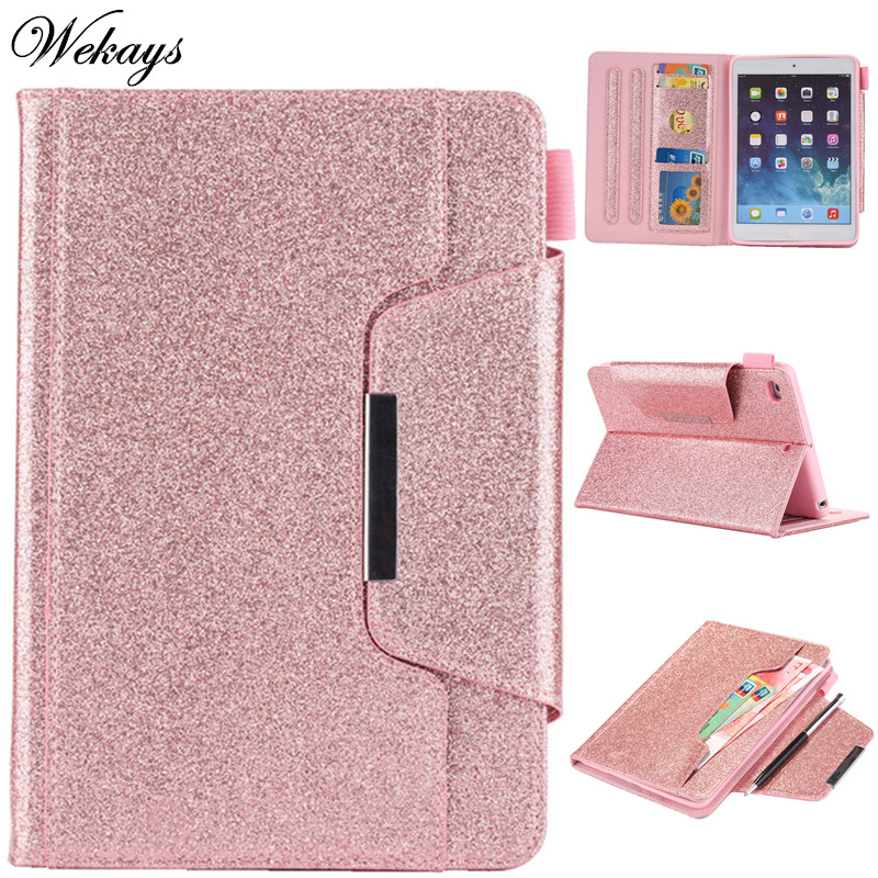 Wekays For Apple IPad Mini 3 2 1 Glitter Bling Leather Fundas Case For Coque IPad Mini 2 3 Tablet Cover Case For IPad Mini 7.9 Wekays For Apple IPad Mini 3 2 1 Glitter Bling Leather Fundas Case For Coque IPad Mini 2 3 Tablet Cover Case For IPad Mini 7.9