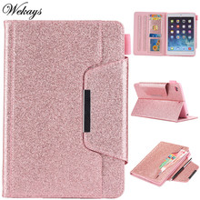 Wekays For Apple IPad Mini 3 2 1 Glitter Bling Leather Fundas Case For Coque IPad Mini 2 3 Tablet Cover Case For IPad Mini 7.9  goojodoq for ipad mini 4 case mini 1 2 3 cover kids students baby safe silicone soft protective case for apple ipad mini 4