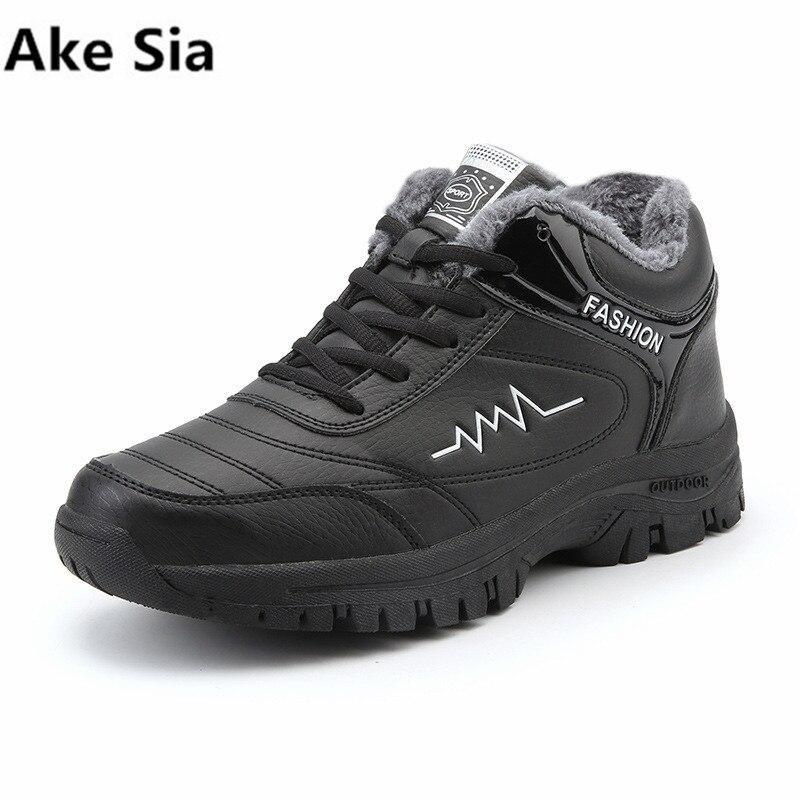 Ake SIA zapatos casuales 2017 nuevos hombres de invierno más cálido terciopelo zapatos de algodón casual moda salvaje de los hombres gruesos algodón