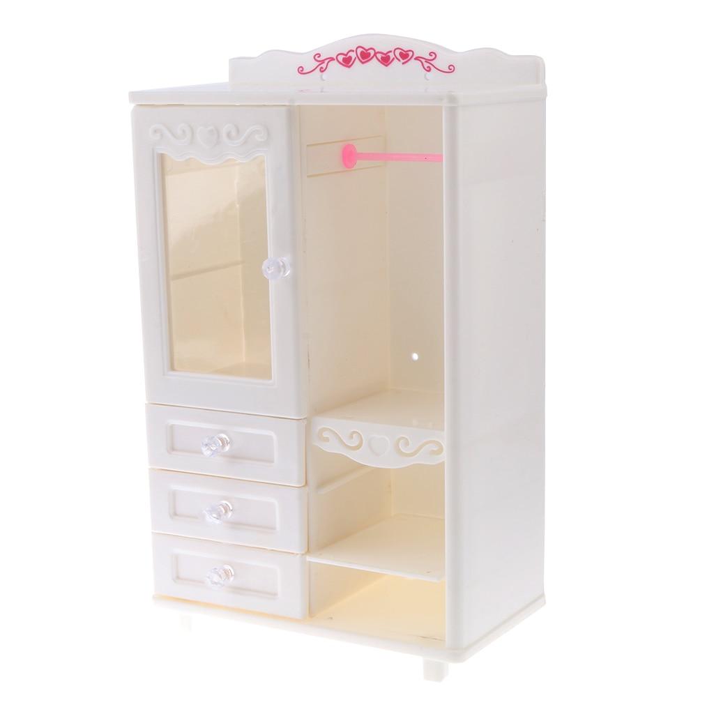 Dollhouse Miniature Bedroom Furniture Storage Wardrobe Closet Kids Toys Gift