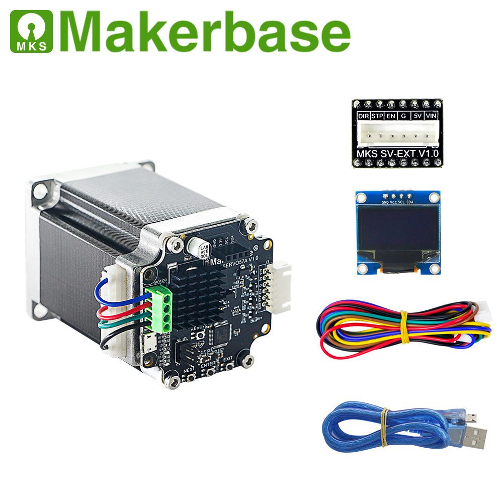 3D printer closed loop servo motor NEMA23 MKS SERVO57A developed by Makerbase that prevents losing steps