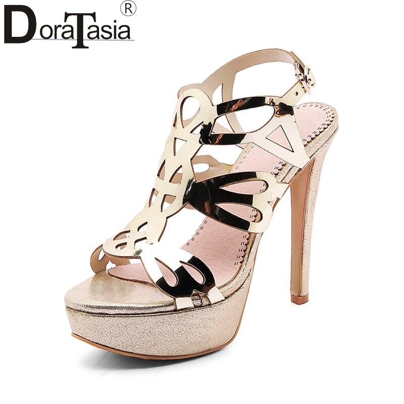Doraasia 2018 كبيرة الحجم 33-43 ماركة الأحذية - أحذية المرأة