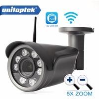 Unitoptek 960P 1080P Wifi IP Camera Outdoor CCTV Surveillance Bullet Camera Wireless 4x Optical Zoom TF