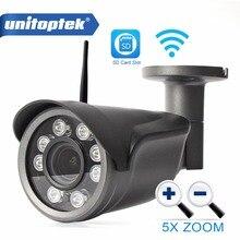 Unitoptek 960 P 1080 P Wifi IP Cámara Bala CCTV Vigilancia Al Aire Libre Zoom Óptico de 5X cámara Inalámbrica P2P Ranura Para Tarjeta TF CamHi vista