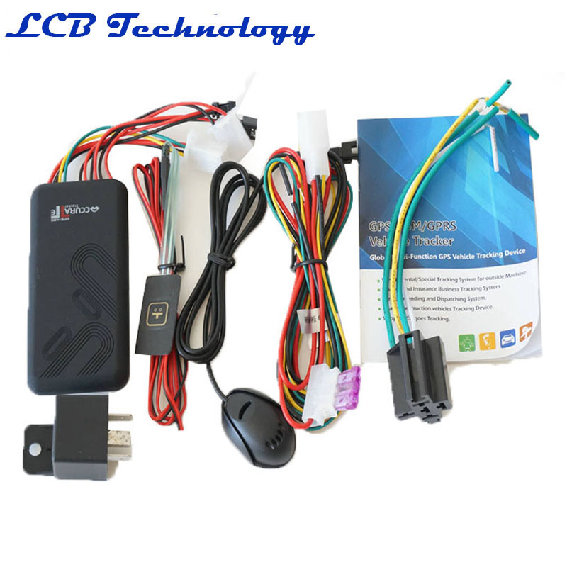 ACC ON SOS Alarm Geo fence GT06 GSM GPRS GPS tracker for Motor vehicle car with