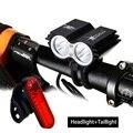 SolarStorm MTB 1000 лм 2 светодиодные лампы  бисер  передняя велосипедная фара для велосипеда