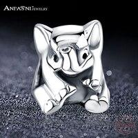 ANFASNI Fashio 925 Sterling Silver Elephant Baby Charm Beads Fit Original Bracelet Pendant Authentic Fine Jewelry