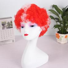 Afro Clown Wig Soccer Fans Party Wigs for Women Men Kids Colorful Football Hair