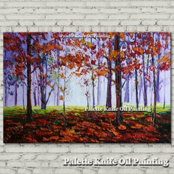 Ručně malované plátno Olejomalba Nástěnné obrazy pro obývací pokoj nástěnné dekorace umělecké plátno malování paleta nůž krajina 5