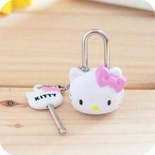 Милый котенок мини-замок для дневника. Мультяшный навесной замок ящика замки в ручках для сумки на молнии рюкзак сумка чемодан ящик. Вечерние подарки