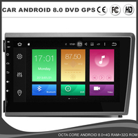 Octa core Android 8.0 Car DVD GPS player For Volvo S60 V70 XC70 WIFI 4GB RAM+32GB ROM DVR USB Radio Navi BT DAB TPMS MAP