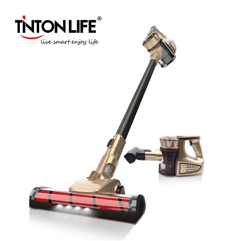 Tinton vida vc812 portátil 2 em 1 handheld aspirador de pó sem fio filtro ciclone 8900 pa forte sucção coletor pó