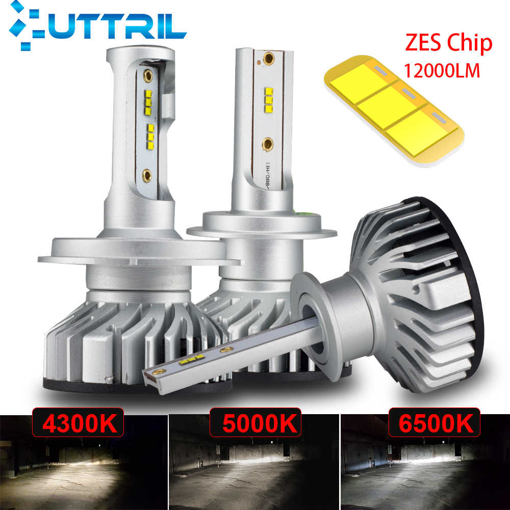 Uttril Canbus H4 H7 LED 4300K 5000K 6500K H1 H3 H8 H9 H11 9005 HB3 9006 HB4 Mini Car Headlight 60W 12000LM Auto Fog Light 12V