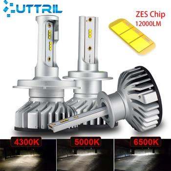 Uttril Canbus H4 H7 LED 4300K 5000K 6500K H1 H3 H8 H9 H11 9005 HB3 9006 HB4 Mini Car Headlight 60W 12000LM Auto Fog Light 12V braveway h7 led h4 headlight bulbs for car h1 h11 hb3 hb4 9005 9006 light 1860 chips 12000lm 6500k 60w 12v auto fog lamp led kit