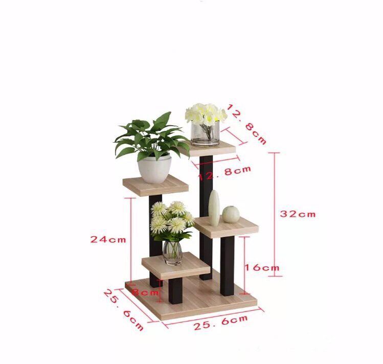 Multi-layer function small flower stand simple creative mini office desk surface fleshy plants step ladder strangers at dawn