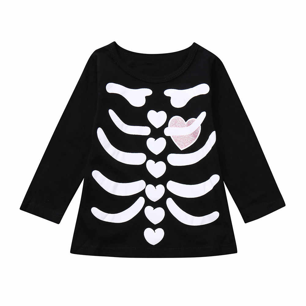 087bdbddc ... Toddler Infants T-Shirts For Baby Boys Girl Skeleton Print Tops T Shirt  Kids Halloween ...