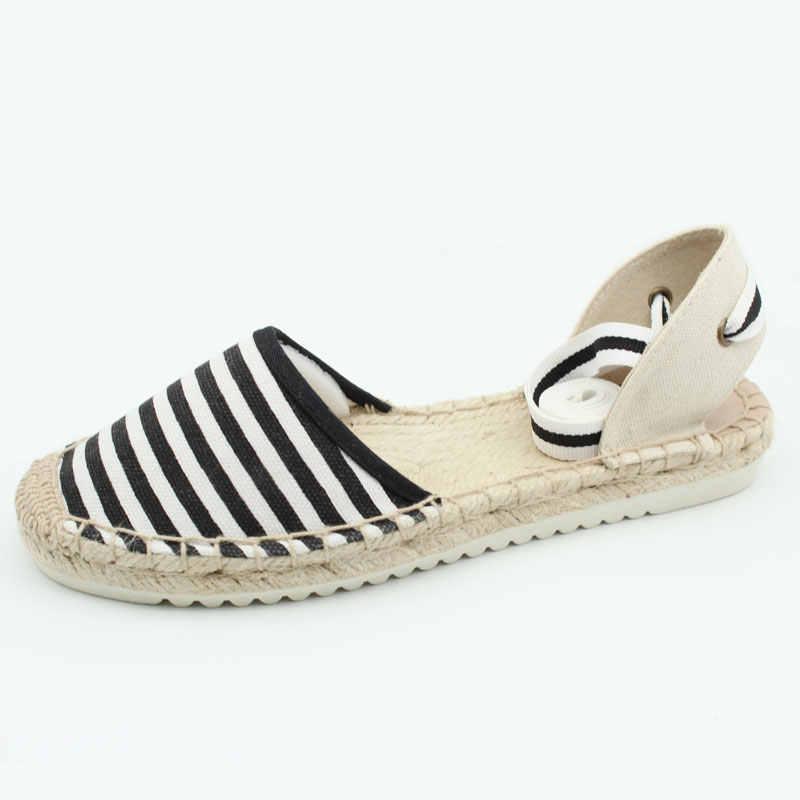 e86b23919e4e5 Women's Lace up Platform Flat Heel Espadrilles Closed Toe Ankle Wrap  Sandals Shoes