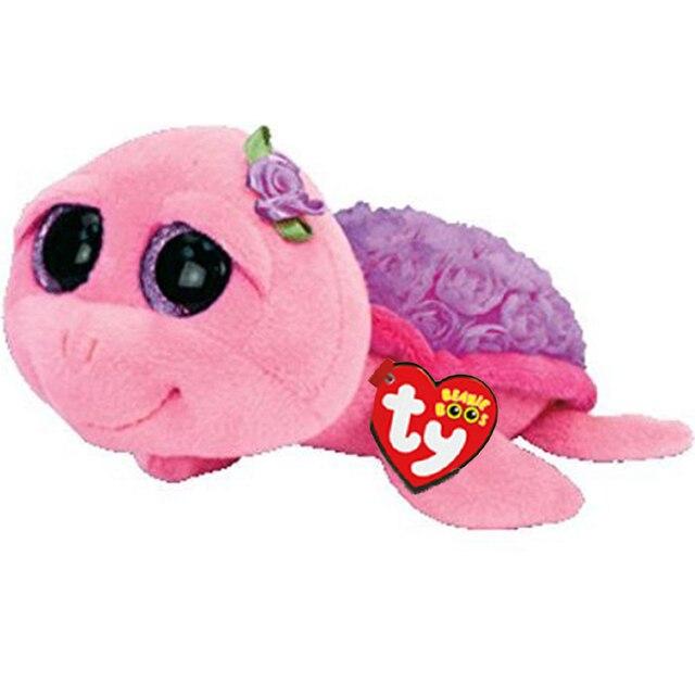 """Ty Vaias Gorro Stuffed & Plush Animais Purple Turtle Toy Boneca Com Tag 6 """"15 centímetros"""