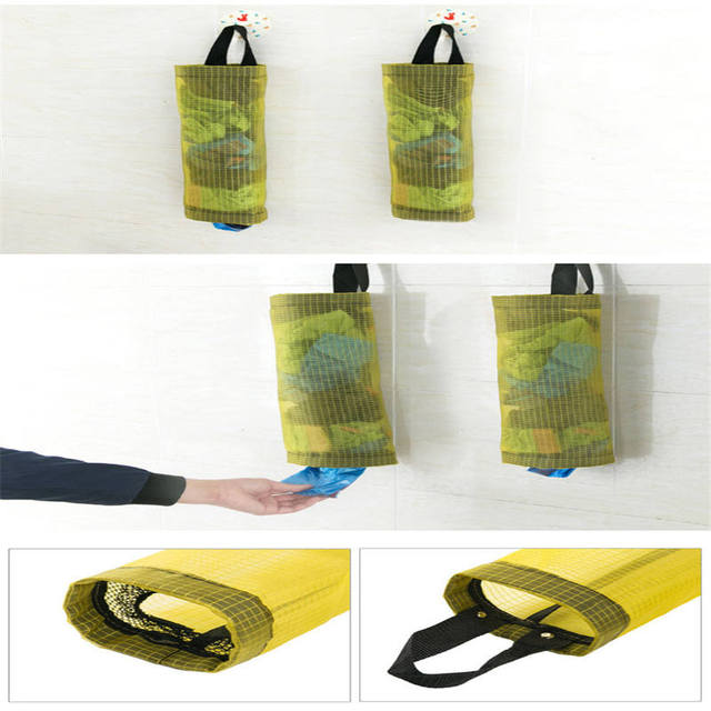 High Quality Home Grocery Bag Holder Dispenser Wall Hanging Storage Garbage  Bag Dispense Mouth Bag Plastic