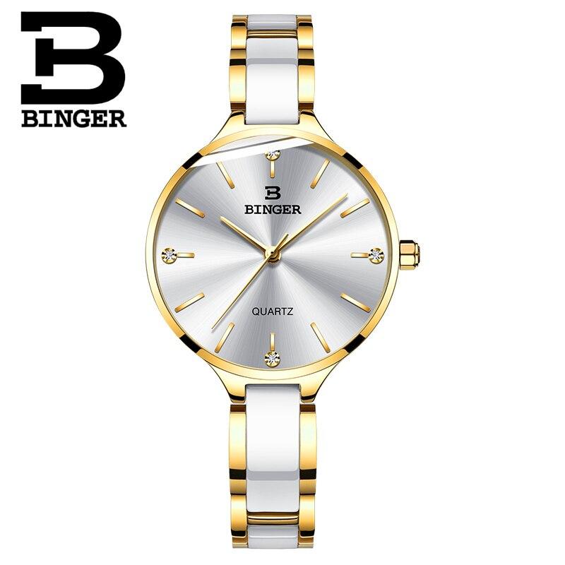 Suisse BINGER luxe femmes montre marque cristal mode Bracelet montres dames femmes montres Relogio Feminino B 1185-in Bracelets de montres femme from Montres    2