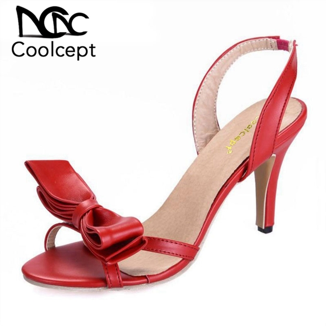 9f4b3340cdf Coolcept Summer Women T-stage Classic Dancing High Heel Sandals Party  wedding Dress shoes Sandalias Size 33-42 PA00493