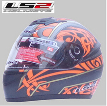 Free shipping authentic LS2 FF350 motorcycle helmet full helmet Specials / dumb flash black / Orange Foliage